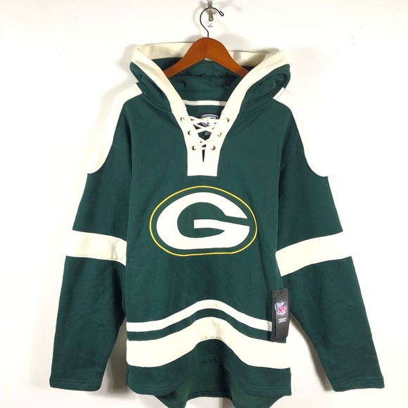premium selection 72ab6 90e04 New OTS NFL Grant Lace Up Hoodie Green Bay Packers Boutique